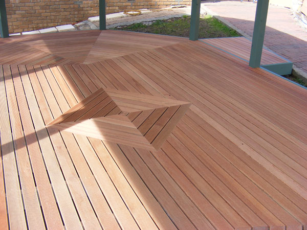 Gallery decking for Hardwood timber decking boards