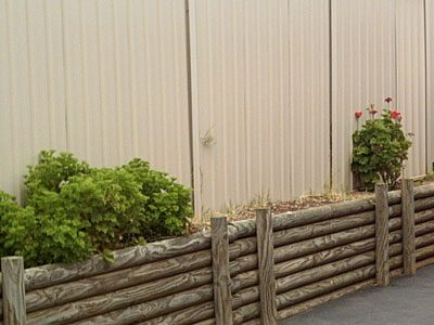 treated-pine-rounds-retaining-wall